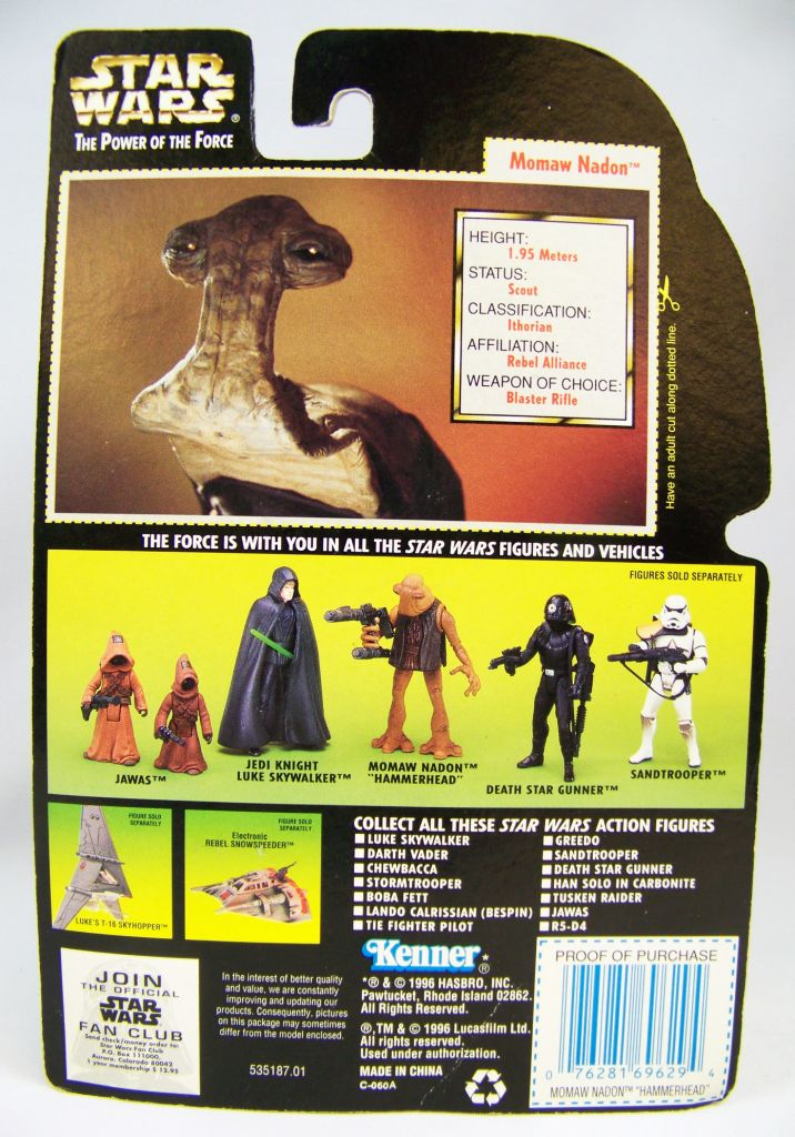 Star Wars (The Power of the Force) - Kenner - Momaw Nadon Hammerhead 02