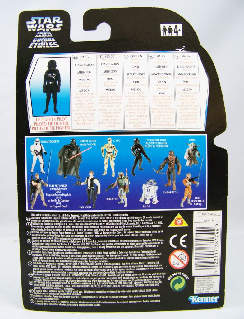 Star Wars (The Power of the Force) - Kenner - TIE Fighter Pilot 02