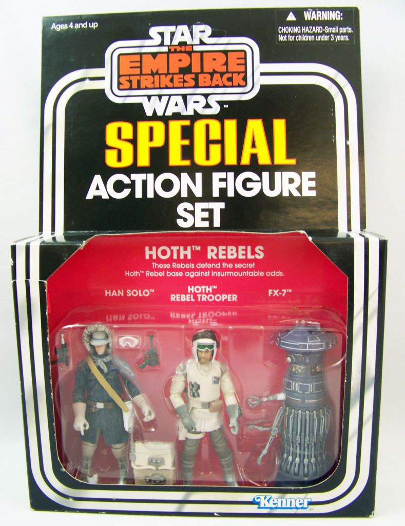 Star Wars (The Vintage Collection) - Hasbro - Special Hoth Rebels Set : Han Solo, Hoth Rebel Trooper, FX-7 - The Empire Strikes