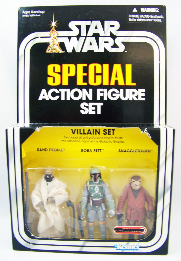 Star Wars (The Vintage Collection) - Hasbro -Special Villain Set : Sand People, Boba Fett, Snaggletooth - Star Wars