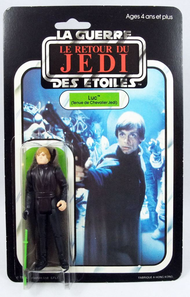 Star Wars 1983 - Meccano ROTJ 65back - Luc Tenue de Chevalier Jedi (Luke Jedi Knight)