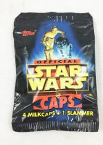 Star Wars Caps - Topps - 4 Milk Caps + 1 Slammer (Pogs)