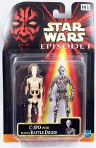 Star Wars Episode 1 (The Phantom Menace) - Hasbro - C-3PO & Bonus Battle Droid
