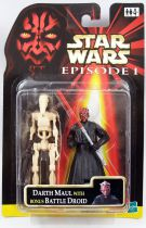 Star Wars Episode 1 (The Phantom Menace) - Hasbro - Darth Maul & Bonus Battle Droid