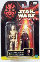 Star Wars Episode 1 (The Phantom Menace) - Hasbro - Queen Amidala & Bonus Battle Droid