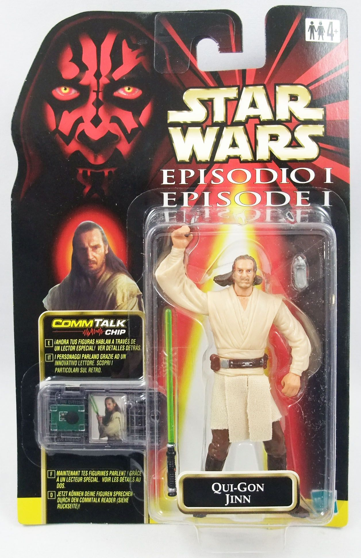 Star Wars Episode 1 (The Phantom Menace) - Hasbro - Qui-Gon Jinn (Jedi Knight)