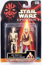 Star Wars Episode 1 (The Phantom Menace) - Hasbro - Ric Olié & Bonus Battle Droid