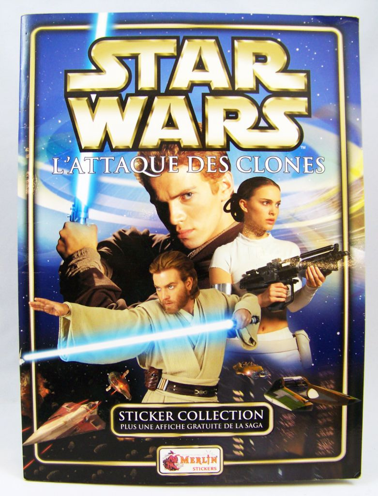 Star wars episode ii lattaque des clones sticker album collecteur de loading zoom