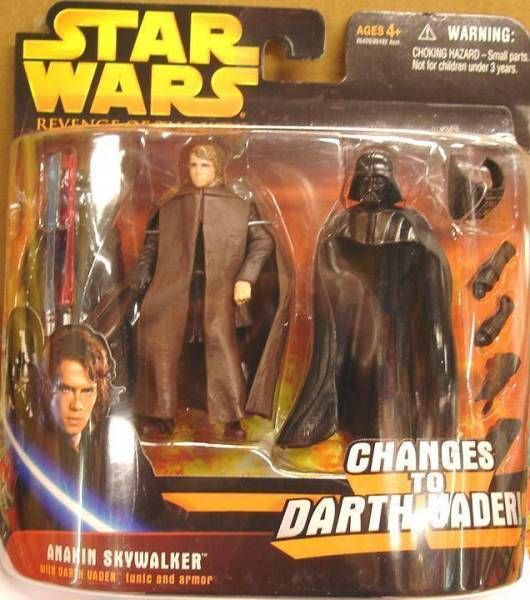 Star Wars Episode Iii Revenge Of The Sith Hasbro Anakin Skywalker Changes To Darth Vader Deluxe