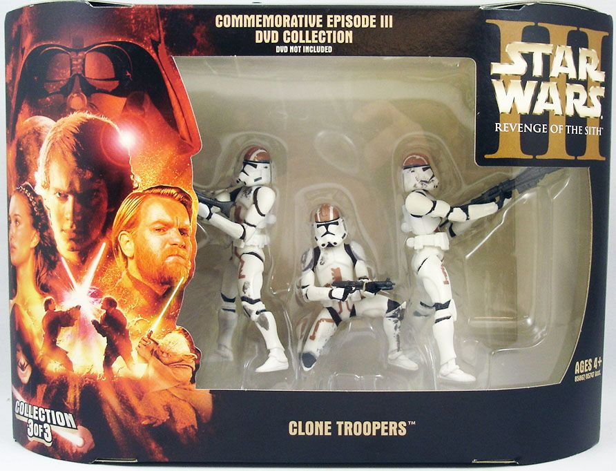 Star Wars Episode Iii Revenge Of The Sith Hasbro Clone Troopers Commemorative Dvd Collection