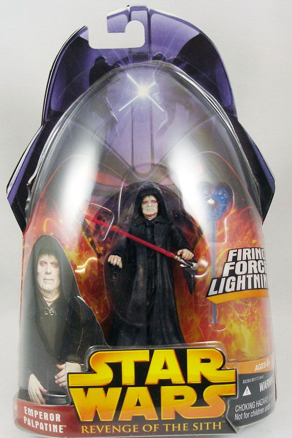 Star Wars Episode Iii Revenge Of The Sith Hasbro Emperor Palpatine Firing Force Lightning 12