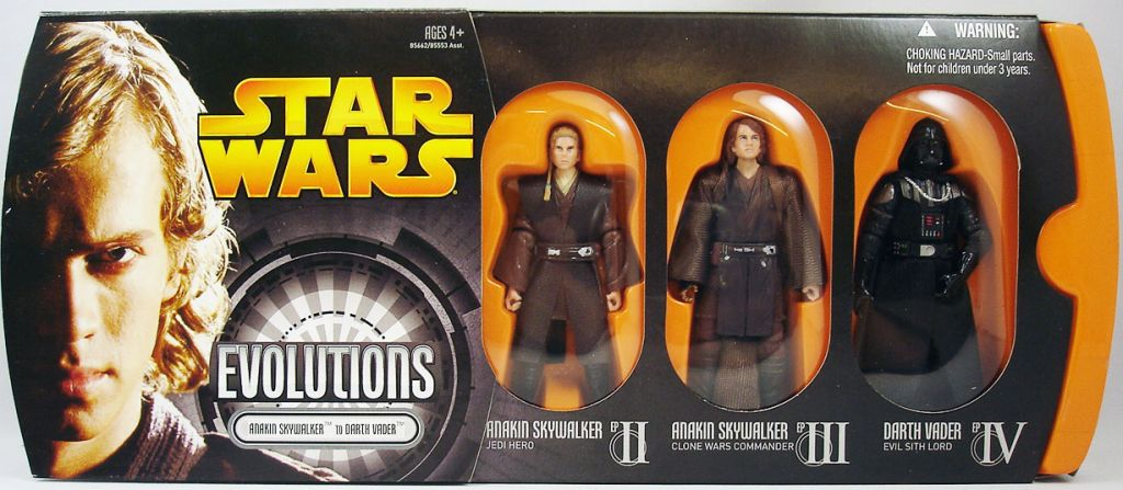 Star Wars Episode Iii Revenge Of The Sith Hasbro Evolutions Anakin Skywalker To Darth Vader