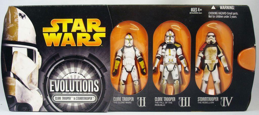 Star Wars Episode Iii Revenge Of The Sith Hasbro Evolutions Clone Trooper To Stormtrooper