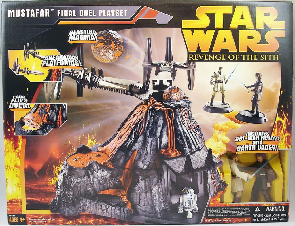 Star Wars Episode Iii Revenge Of The Sith Hasbro Mustafar Final Duel Playset