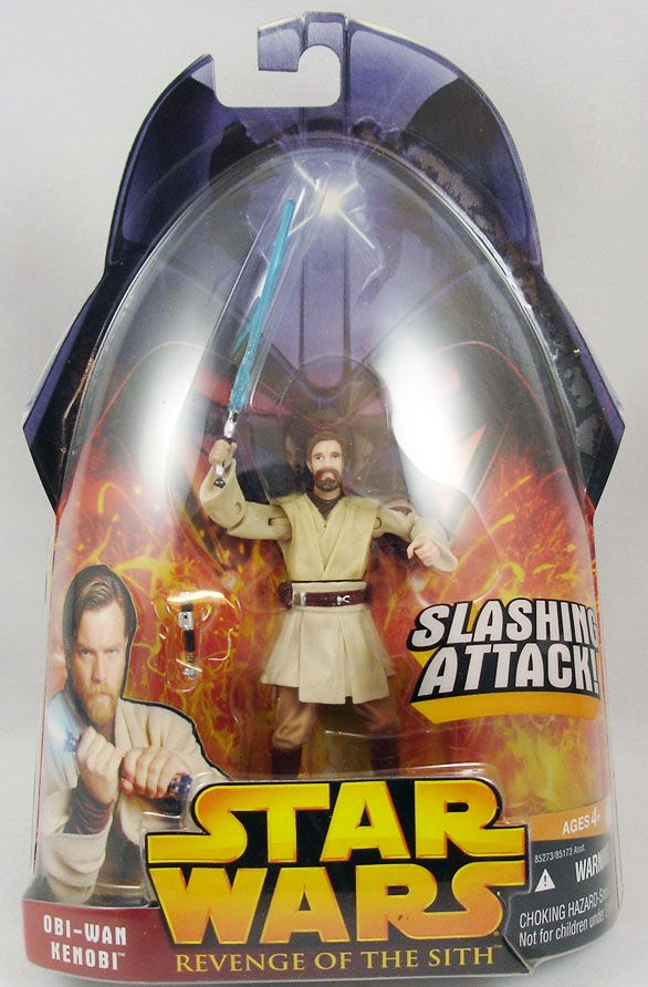Star Wars Episode Iii Revenge Of The Sith Hasbro Obi Wan Kenobi Slashing Attack 1