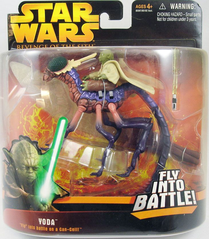 Star Wars Episode Iii Revenge Of The Sith Hasbro Yoda Can Cell Fly Into Battle