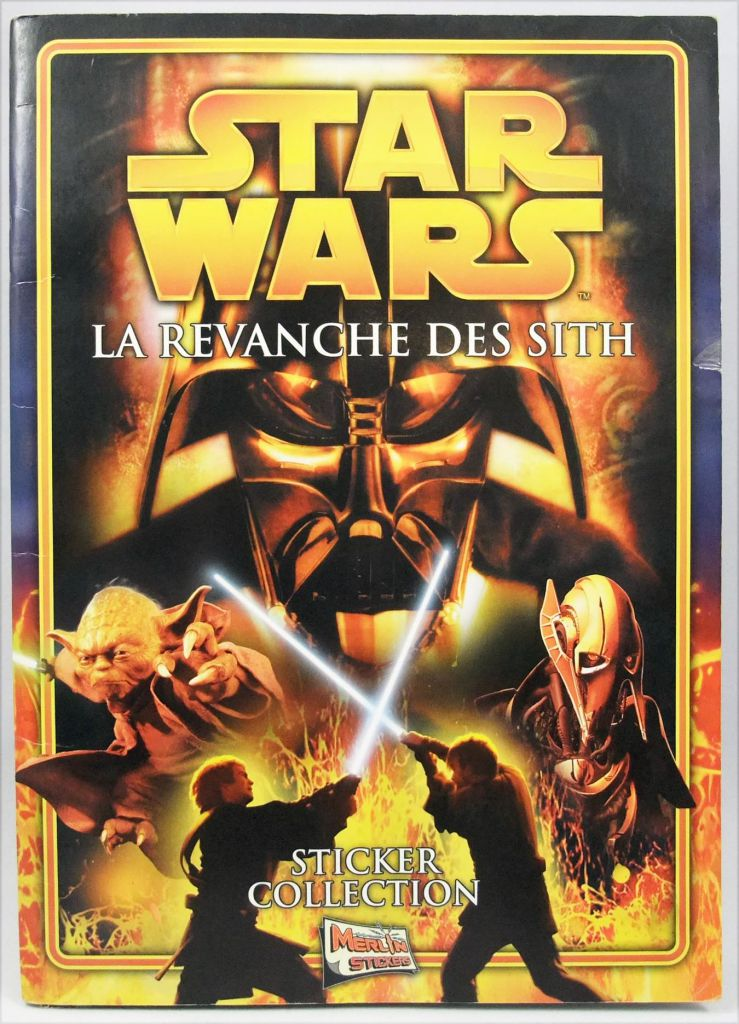 Star Wars Episode III La Revanche des Sith - Sticker Album (collecteur de vignettes) - Merlin Collection 2005