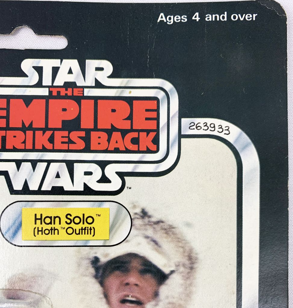 """Star Wars ESB 1980 - Palitoy 30back A - Han Solo \""""Hoth Outfit\"""" (Miro-Meccano Archives)"""