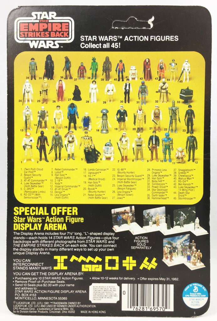 Star Wars ESB 1981 - Kenner 45Back - Cloud Car Pilot (Display Arena Offer)