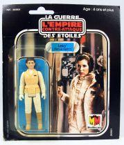 Star Wars L\'Empire Contre-attaque 1981 - Meccano - Leia (Tenue Hoth) - carte carrée 18-back Pilot Run