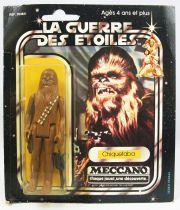 Star Wars La Guerre des Etoiles 1979 - Meccano - Chiquetaba (Chewbacca) square card 20-A cardb