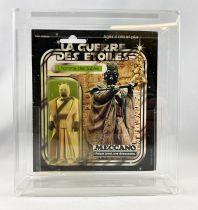 Star Wars La Guerre des Etoiles 1979 - Meccano - L\'homme des Sables (Sand People) square card 20-A cardback Pilot Run