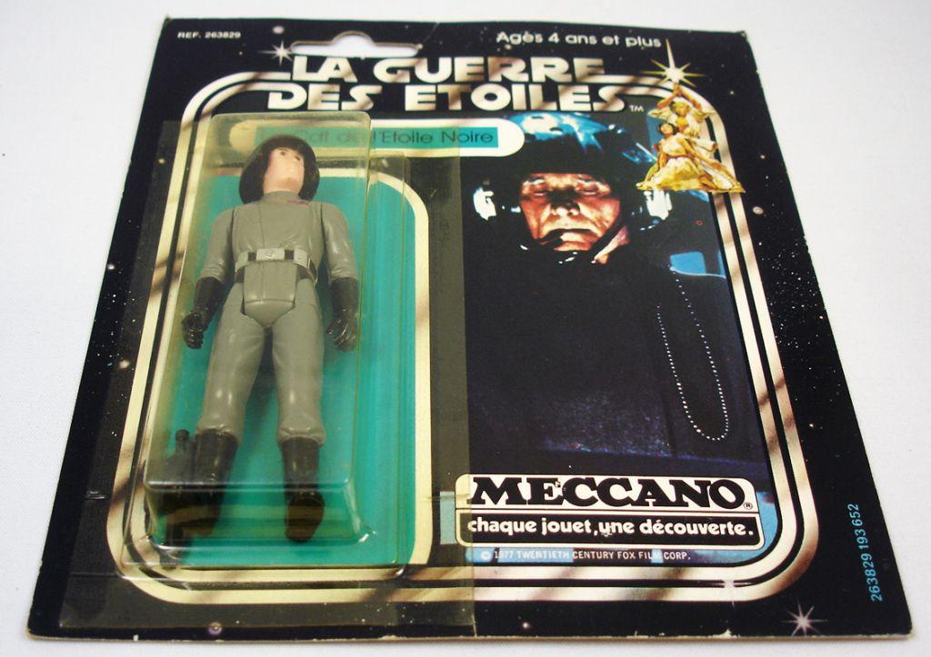 Star Wars La Guerre des Etoiles 1979 - Meccano - Le Cdt de l\'Etoile Noire Death Squad Commander carte carrée (1)