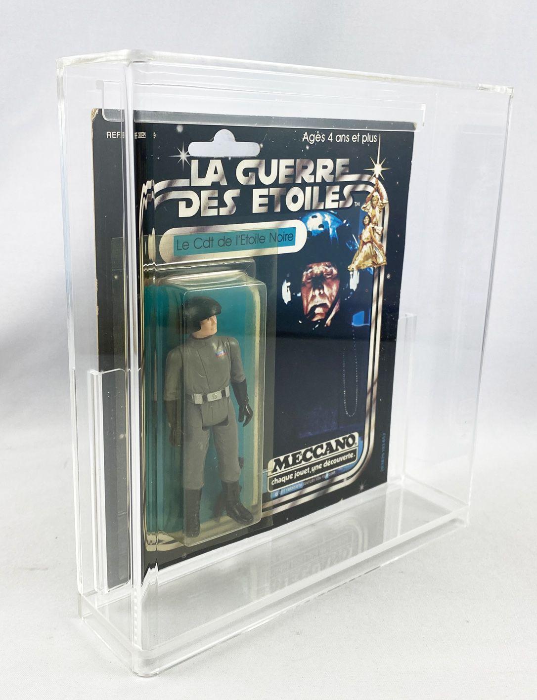 Star Wars La Guerre des Etoiles 1979 - Meccano - Le Cdt de l\'Etoile Noire (Death Squad Commander) square card 20-A cardback