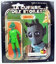 Star Wars La Guerre des Etoiles 1981 - Meccano - Greedo - carte carrée 20-C cardback