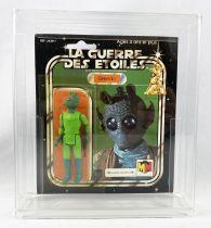 Star Wars La Guerre des Etoiles 1981 - Meccano - Greedo - square card 20-C cardback