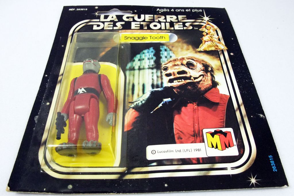 Star Wars La Guerre des Etoiles 1981 - Meccano - Snaggle Tooth (Snaggletooth) square card 20back C