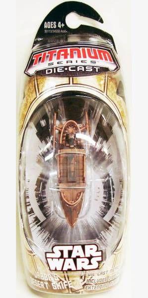 Star Wars MicroMachines Titanium Series Die Cast - Jabba Desert Skiff