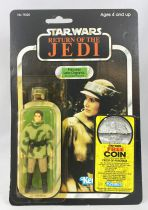 Star Wars ROTJ 1983 - Kenner 77back A - Princess Leia Organa (in Combat Poncho)