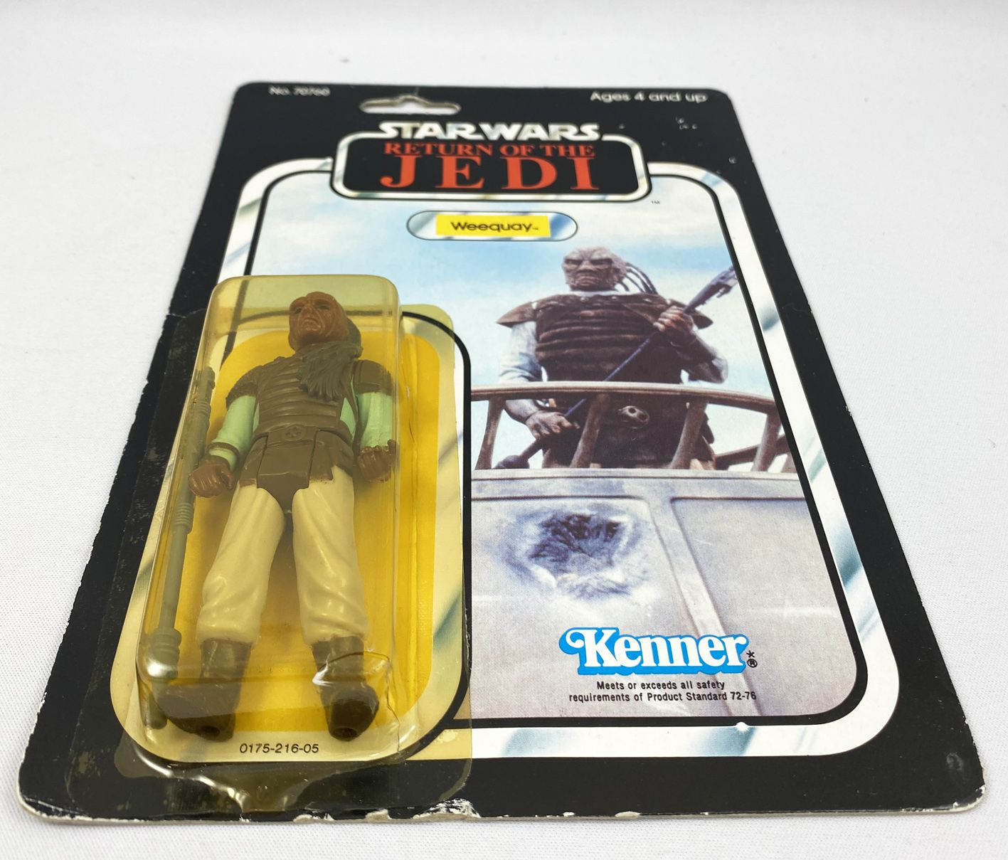 Star Wars ROTJ 1983 - Kenner 77back A - Weequay