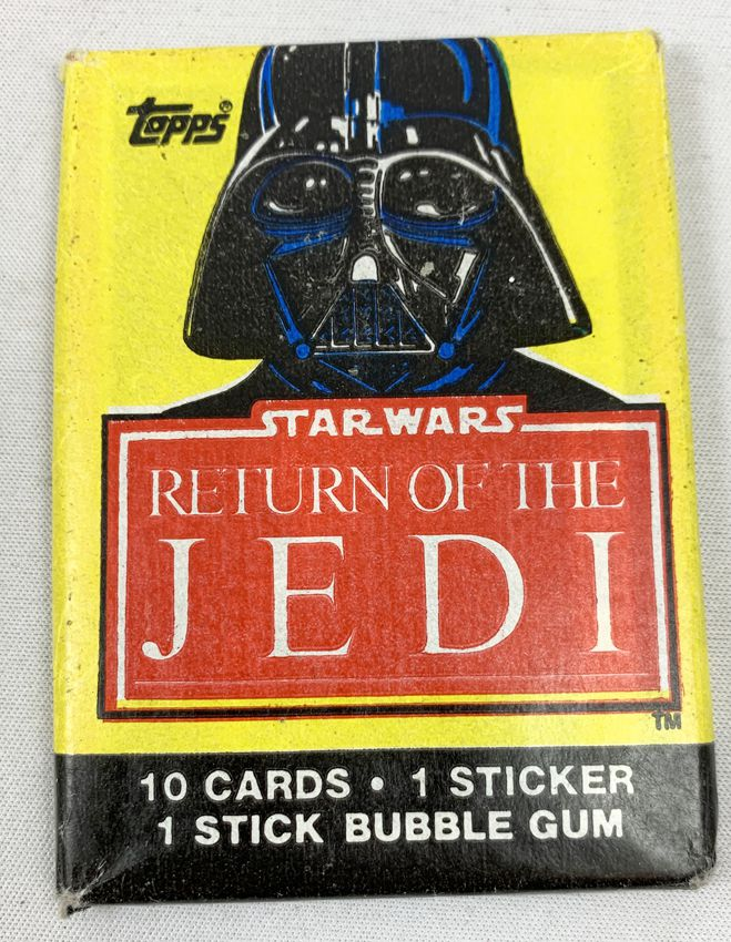 Star Wars ROTJ 1983 - Topps Trad ing (1rst Series) CardsWax Pack (Darth Vader)