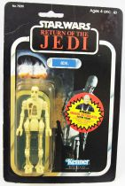 "Star Wars ROTJ 1984 - Kenner 77back - 8D8 ""Free Offer Sticker\"""