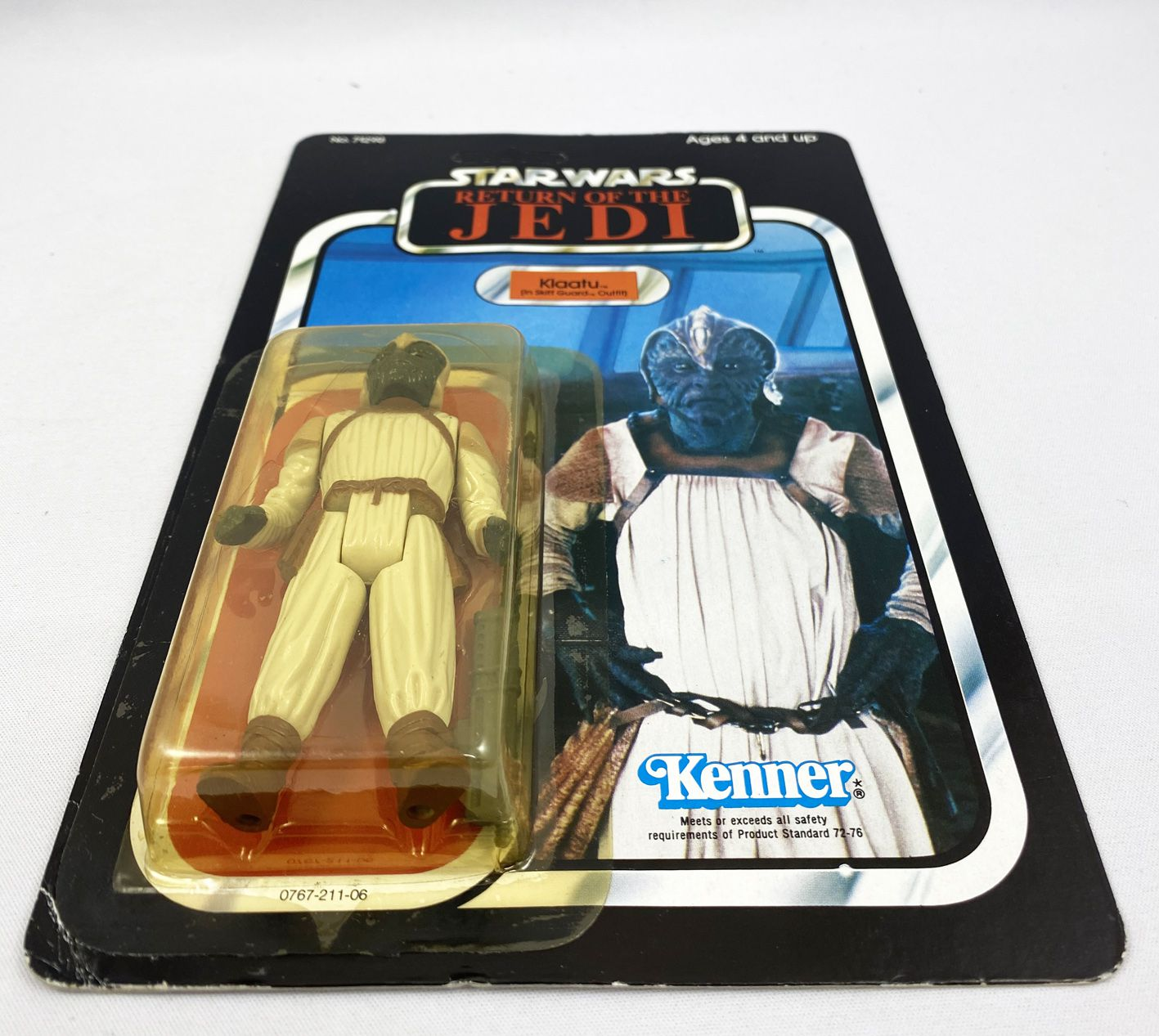Star Wars ROTJ 1984 - Kenner 79back A - Klaatu (in Skiff Guard Outfit)
