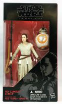 Star Wars The Black Series 6\'\' - #02 Rey (Jakku) & BB-8 (1ère vers.)