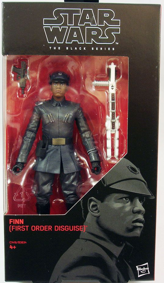 """STAR WARS 6/"""" THE BLACK SERIES FINN FIRST ORDER DISGUISE #51 ACTION FIGURE HASBRO"""