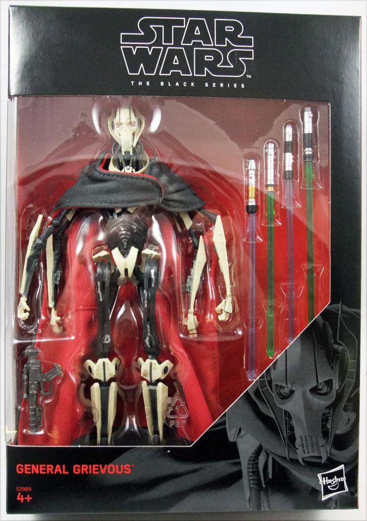 "Star Wars Black 6/"" Action Figure #D1 General Grevious"