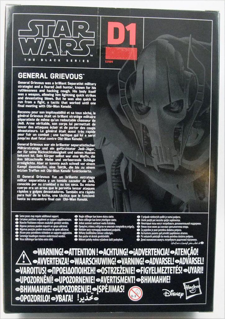 Star Wars The Black Series 6\'\' - #D1 General Grievous (Exclusive)