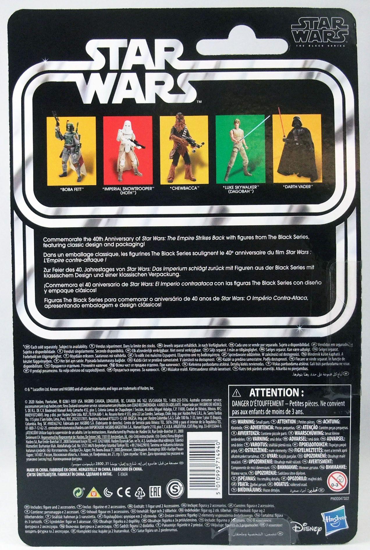 "Star Wars The Black Series 6\"" - \""40th Anniversary\"" Luke Skywalker (Dagobah)"