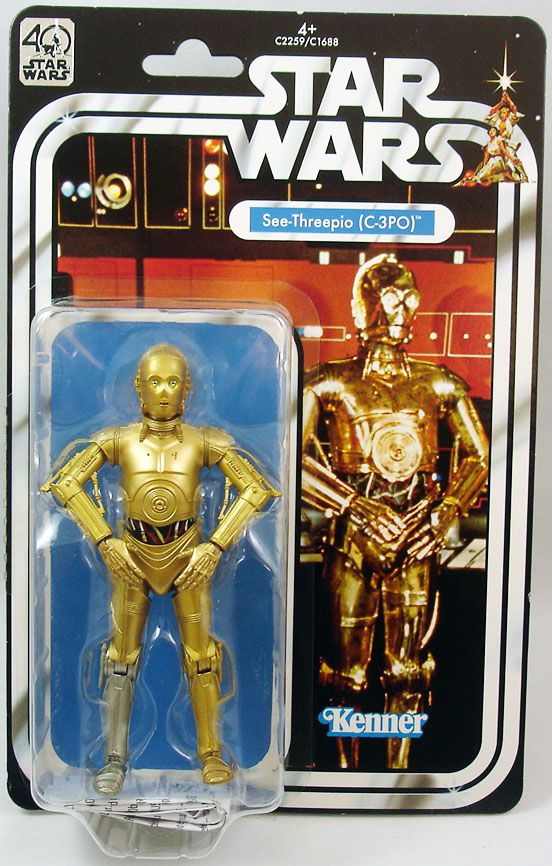 "Star Wars The Black Series 6"" - \""40th Anniversary\"" See-Threepio (C-3PO)"
