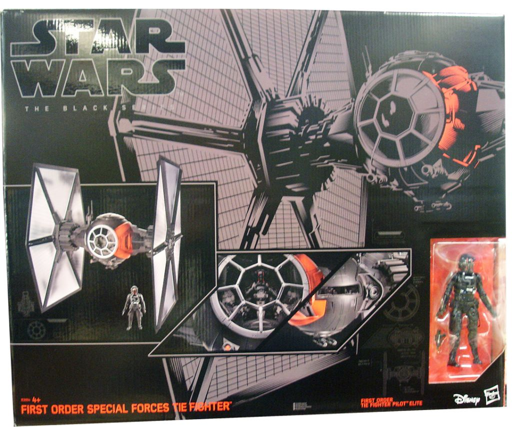 star wars black series vehicle tie fighter and pilot 6 inch figure mint