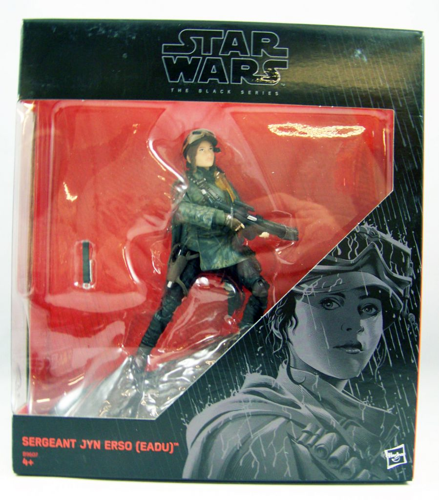 "NO BOX! Star Wars /""Black Series/"" 6/"" Sergeant Jyn Erso Eadu Hasbro"