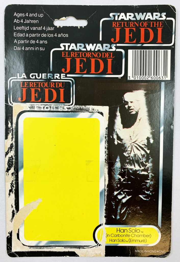 Star Wars Trilogo 1983/1985 - Kenner - Han Solo (in Carbonite Chamber) Han Solo (Emmuré)