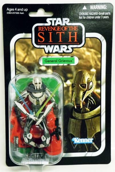 Star Wars vintage style - Hasbro - General Grievous - Revenge of the Sith