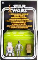 Star Wars vintage style - Hasbro - Special Droïd Set : R5-D4, Death Star Droid, Power Droid - Star Wars
