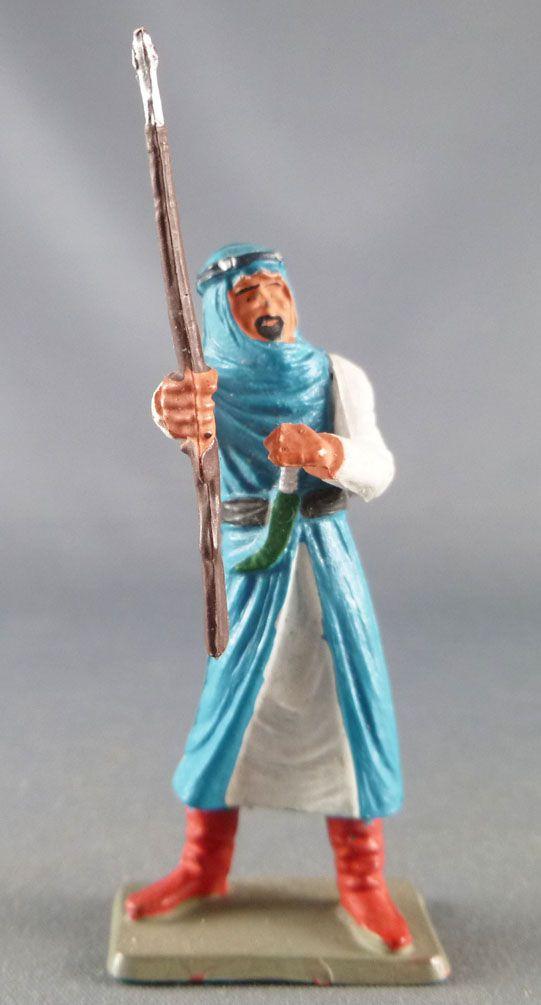 Starlux - Arabes Guerriers - Bras tendu fusil en main bleu & blanc (réf AR7)