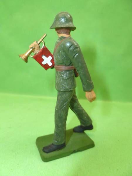 Starlux - Armée Helvétique - Piéton Suisse défilant clairon (réf AH104)